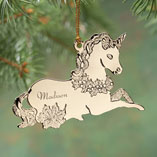 View All Web Exclusives - Personalized Unicorn Ornament