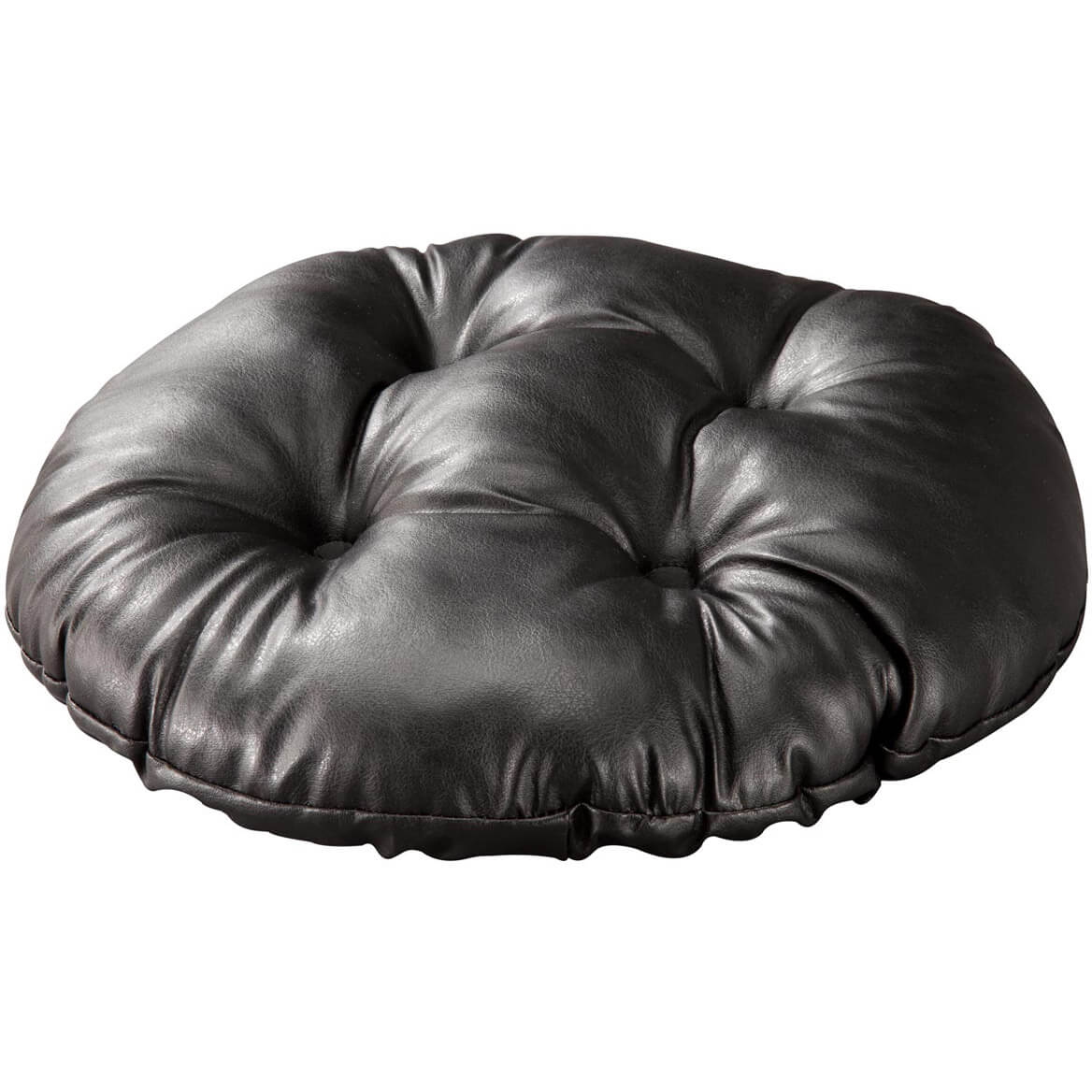 Faux Leather Tufted Bar Stool Cushion