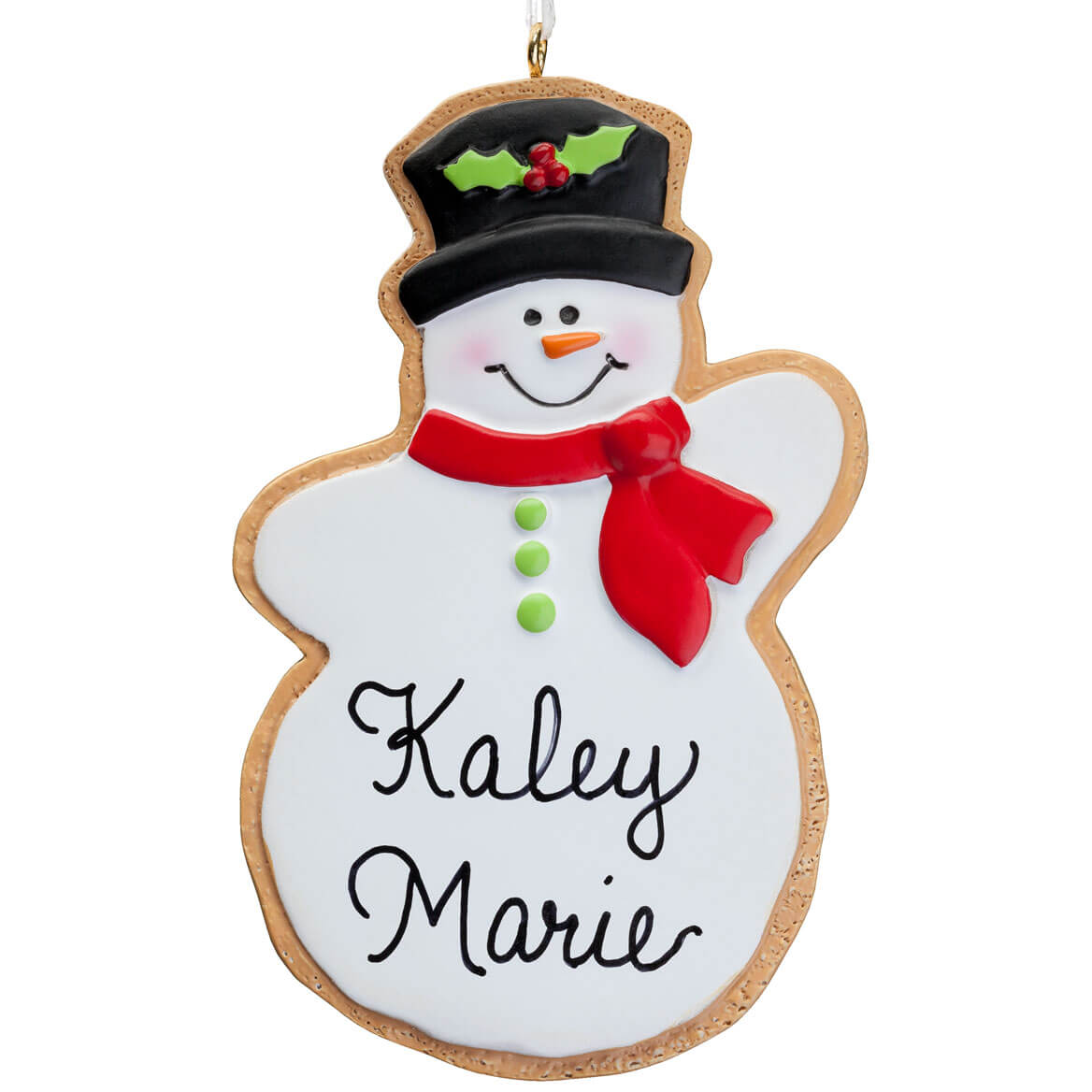 Personalized Snowman Christmas Cookie Ornament-347623