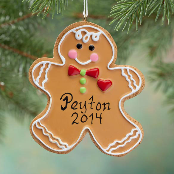 Personalized Gingerbread Christmas Cookie Ornament