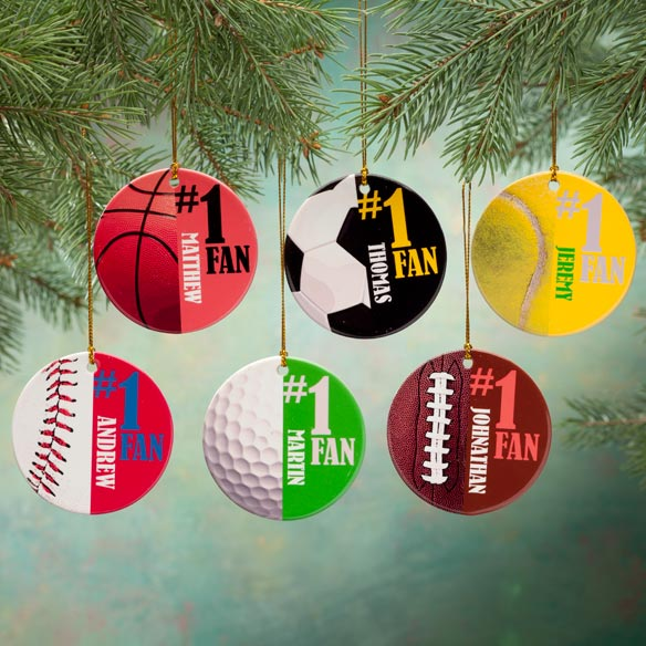 Personalized Sports Porcelain Ornament