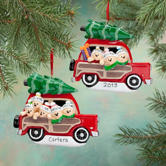 Personalized Woody Wagon Ornament