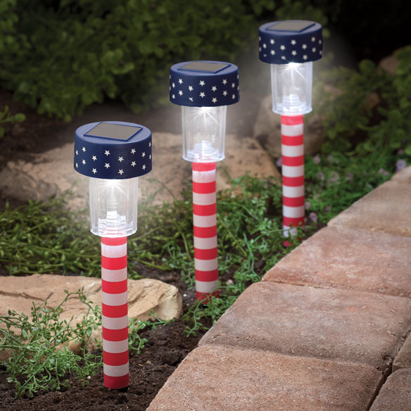 Patriotic Solar Lights