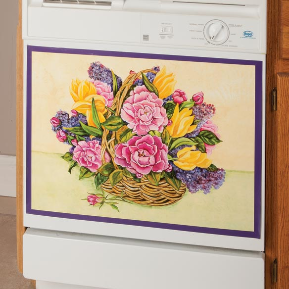 Floral Basket Dishwasher Magnet
