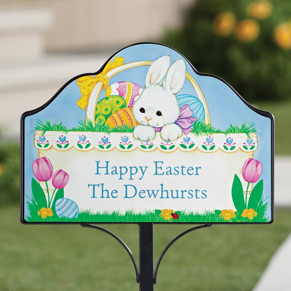 Personalized Magnetic Easter Bunny Yard Sign