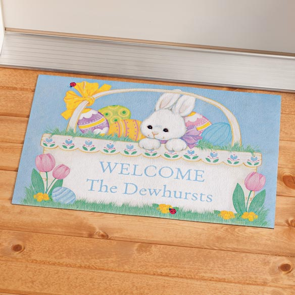 Personalized Easter Bunny Doormat