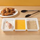 Food Prep - Three Section Breading Tray