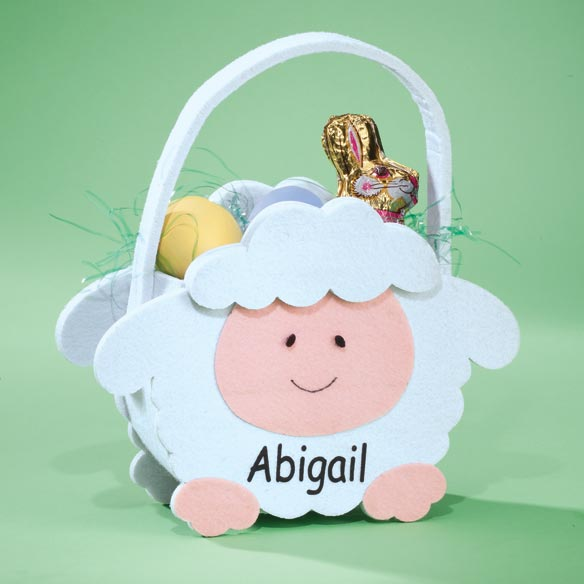 Personalized Lamb Basket