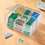 View All Storage & Holders - Acrylic Tea Bag Box