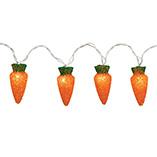 Easter - Carrot String Lights - String Of 10