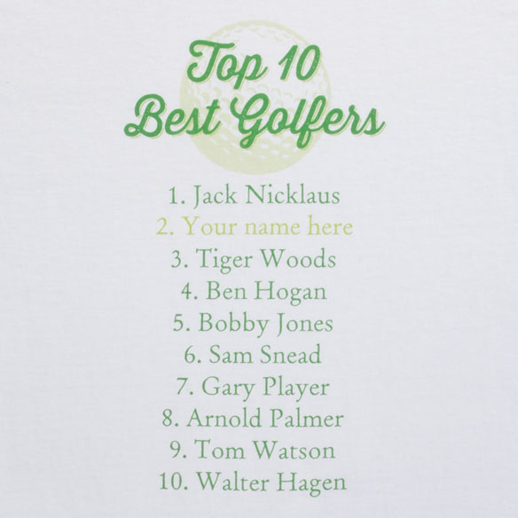 Personalized Top 10 Golfers T-Shirt
