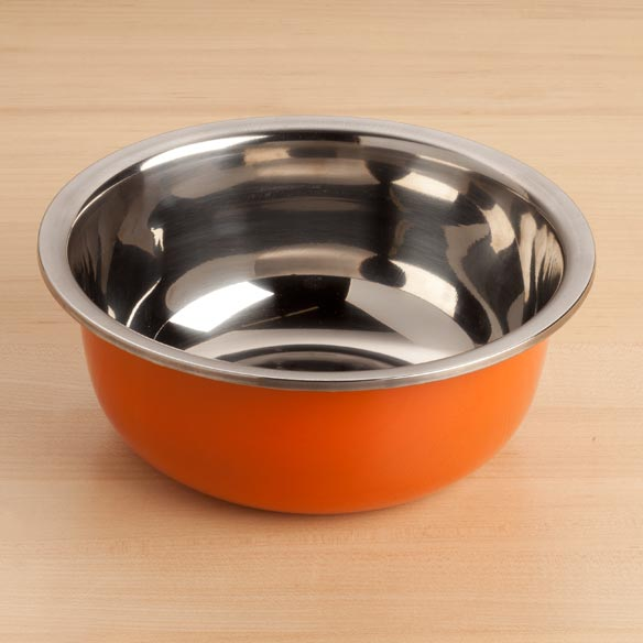 Orange Stainless Bowl Small