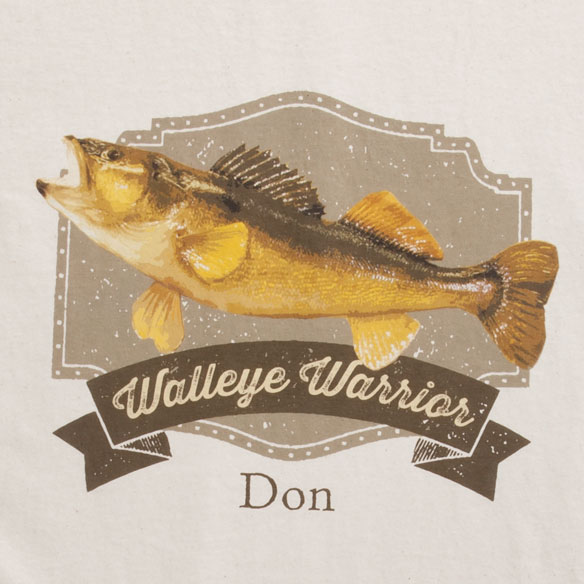Personalized Walleye Warrior T-Shirt