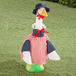 Goose Outfits - Patriotic Lawn Goose Dress