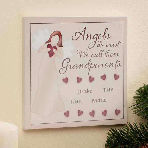 Personalized 8x8 Angels Do Exist Wooden Wall Plaque