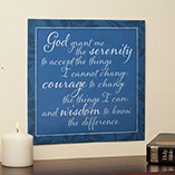 Home Décor - 12x12 Serenity Prayer Metal Wall Plaque