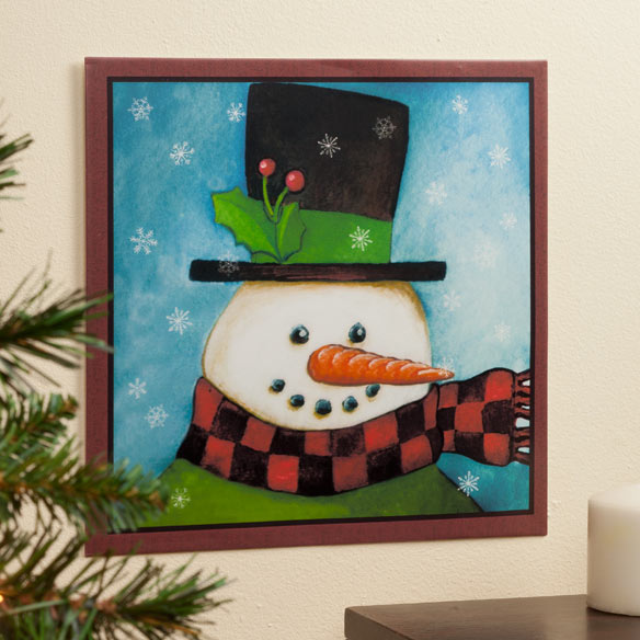 12x12 Snowman Metal Wall Plaque - View 1