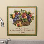 Home Décor - 12 x 12 Antique Fruit Metal Wall Plaque