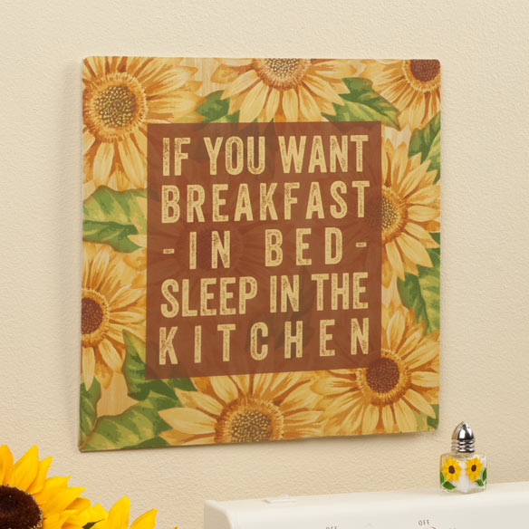 12 x 12 Breakfast in Bed Metal Wall Plaque