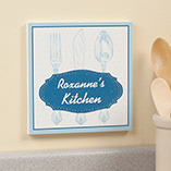 Home Décor - Personalized 8 x 8 Spoon & Fork Wooden Wall Plaque