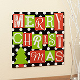 Home Décor - 12x12 Merry Christmas Metal Wall Plaque