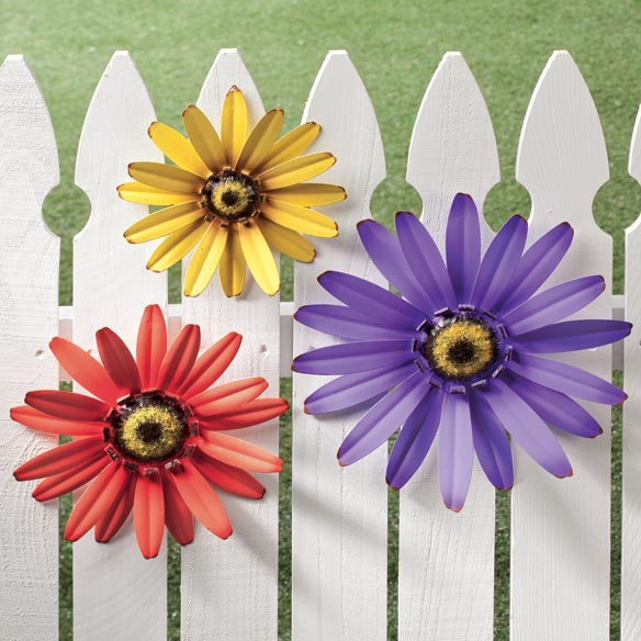 Outdoor Metal Coneflower Art