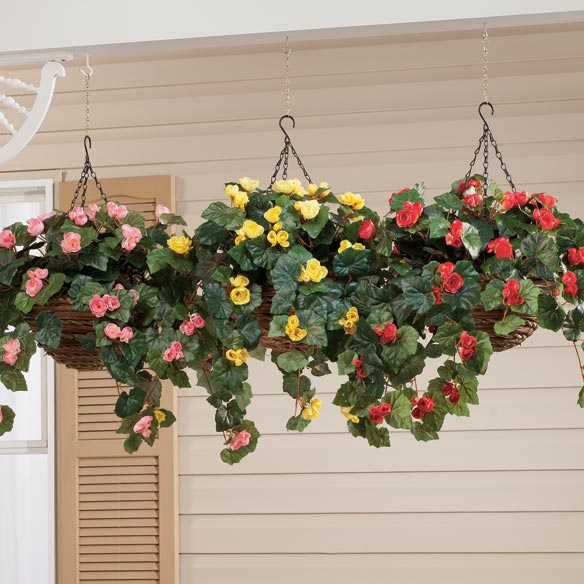 Silk Begonia Hanging Bush