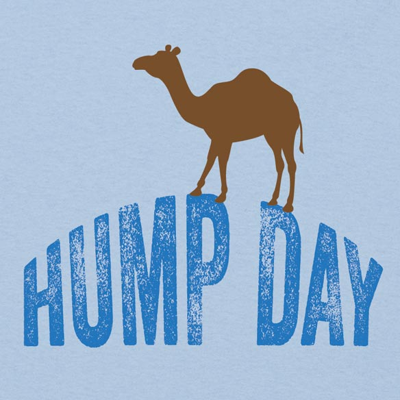 Hump Day T-Shirt - Light Blue