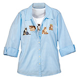 View All Sweatshirts & T-Shirts - Cats 3/4 Sleeve Pinstripe Set