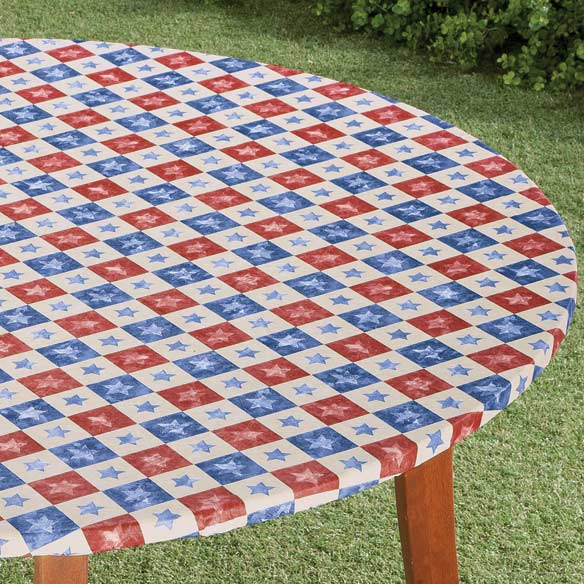 Americana Stars Elasticized Table Cover