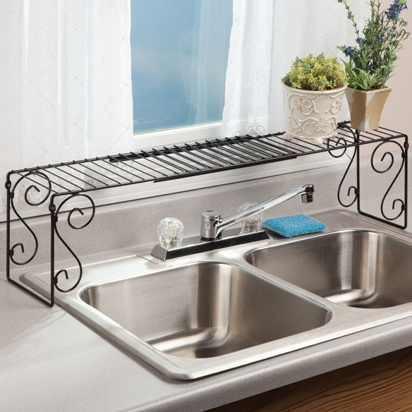 Expandable Over The Sink Shelf Kitchen Shelves Miles Kimball