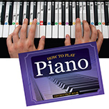 """DVD, CD & Music - """"How to Play Piano"""" Book, Flashcards and Keyboard Clings"""