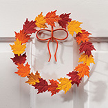 Thanksgiving - Metal Leaf Wreath