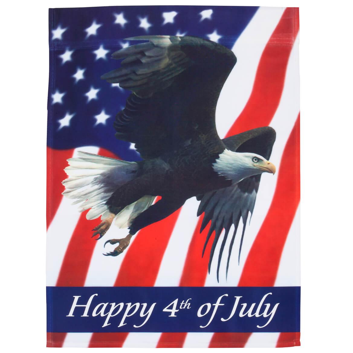 Happy 4th Patriotic Eagle Garden Flag