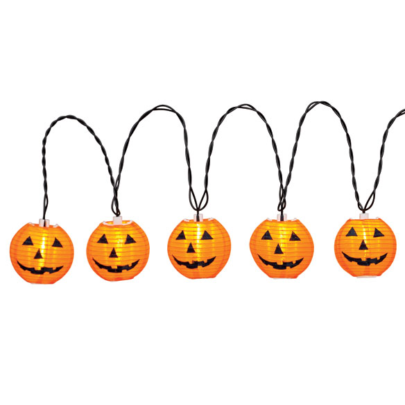 Lighted Pumpkin Lanterns, String of 10