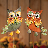 Thanksgiving - Metal Harvest Owl Decoration