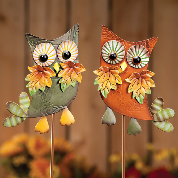 Metal Harvest Owl Decoration