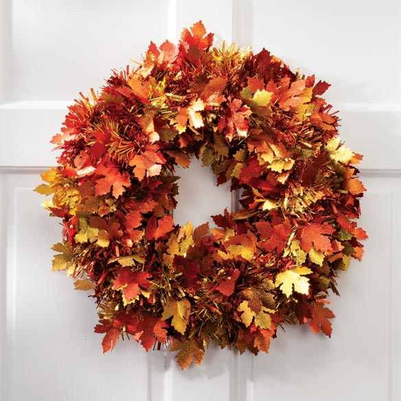 Fall Tinsel Wreath