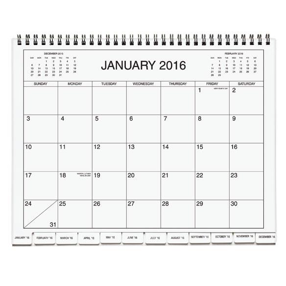 3 Year Calendar Diary 2016-2018