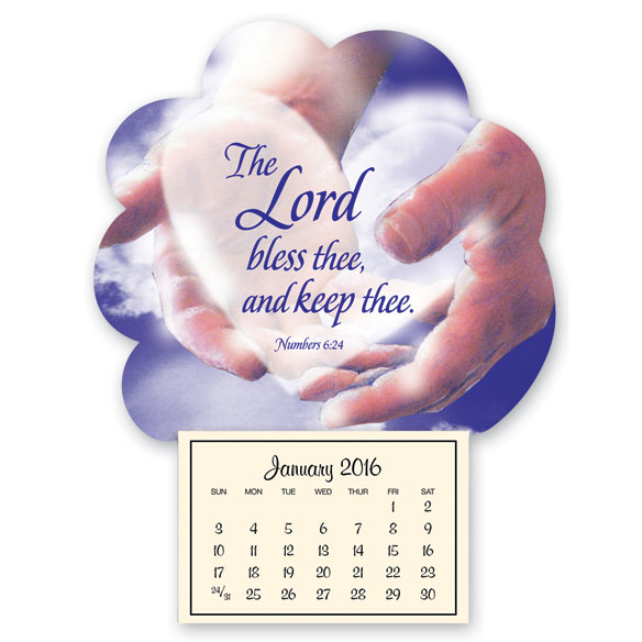 Mini Magnetic Calendar In God's Hands