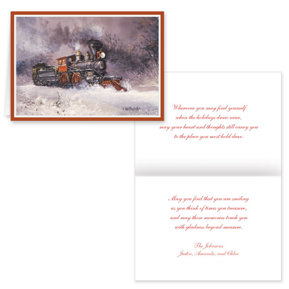Blaylock Train Christmas Card Set of 20