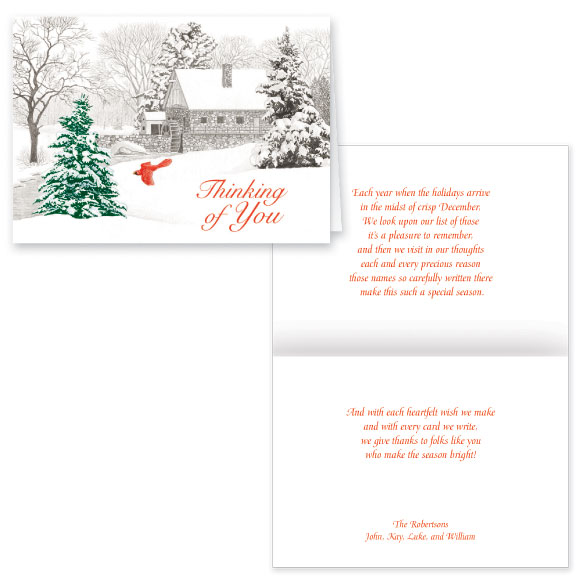 Winter Mill Christmas Card Set of 20