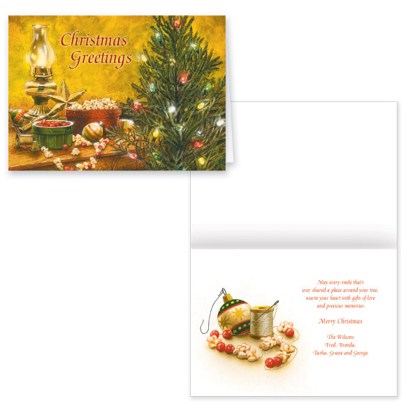 Trimming the Tree Christmas Card Set of 20