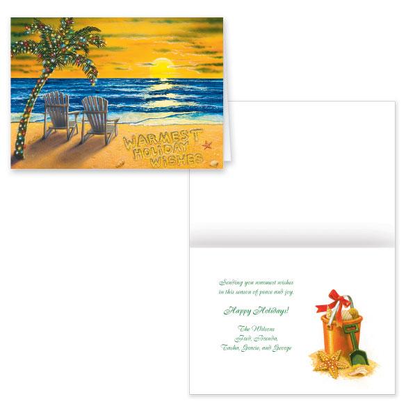 Coastal Happy Holidays Card Set of 20