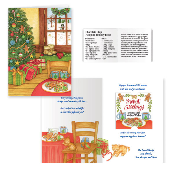 Sweet Greetings Christmas Card Set of 20