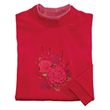 View All Sweatshirts & T-Shirts - Red Tonal Floral Bouquet Sweatshirt
