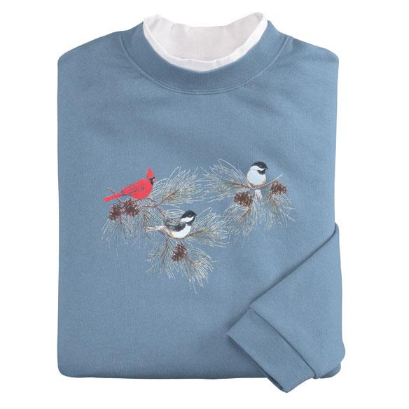 Chickadees & Cardinal Sweatshirt