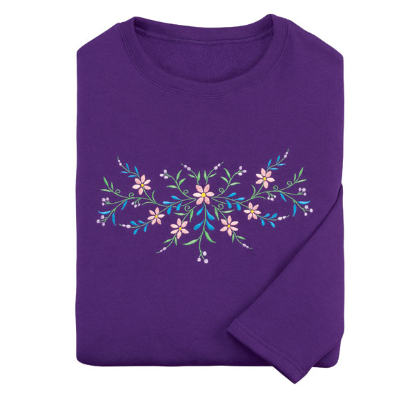 Unique's Shop Embroidered Floral Tunic-XL at Sears.com
