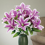 View All Clocks & Decorative Accents - Scented Lily Bouquet