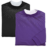 View All Sweatshirts & T-Shirts - Rhinestone Burst Yoke Sweatshirt